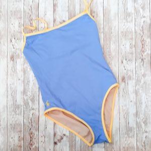 Ralph Lauren One Piece High Cut Swim Suit